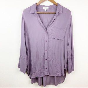 Cloth & Stone Shirttail Button Down Lilac